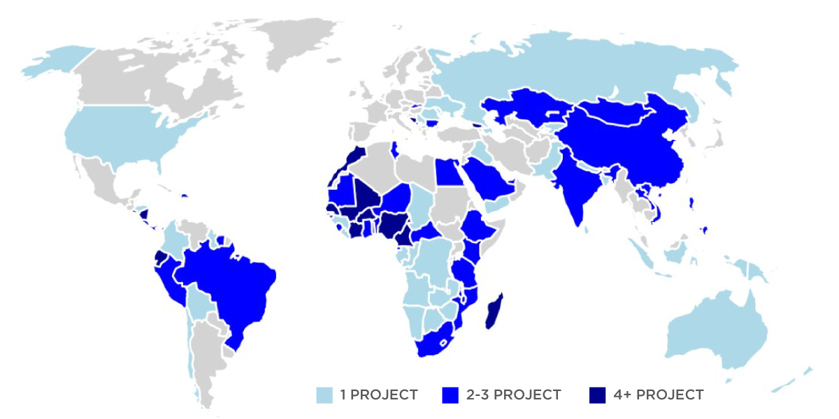 IOS Partners global projects map