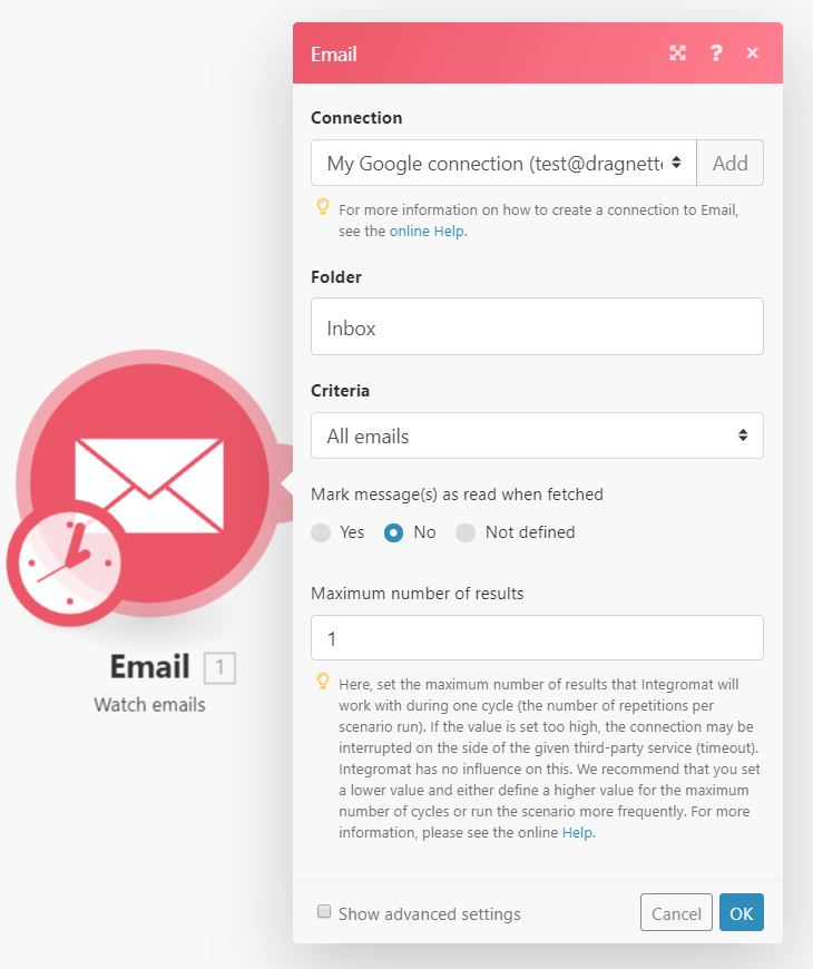 Integromat Email Connector