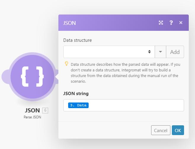 Integromat JSON Example Image