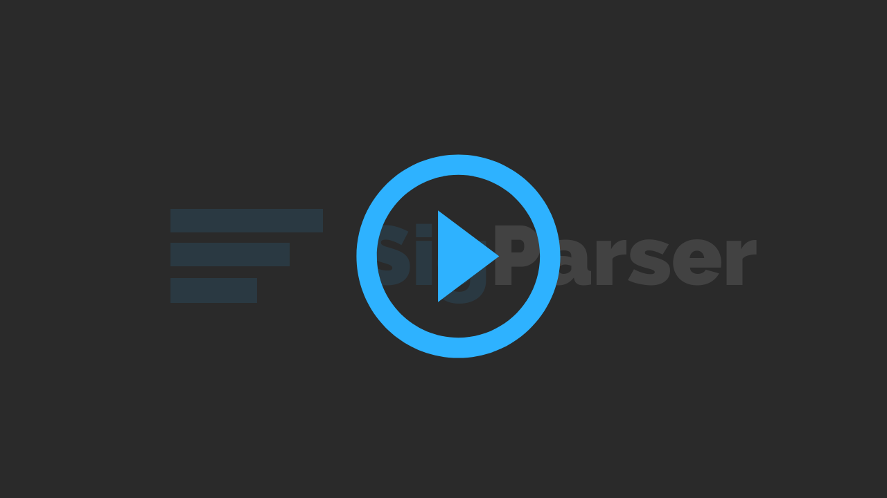 Play SigParser Parse Email Signature video