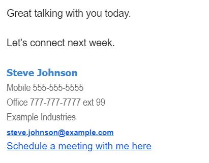 Email Signature Screenshot